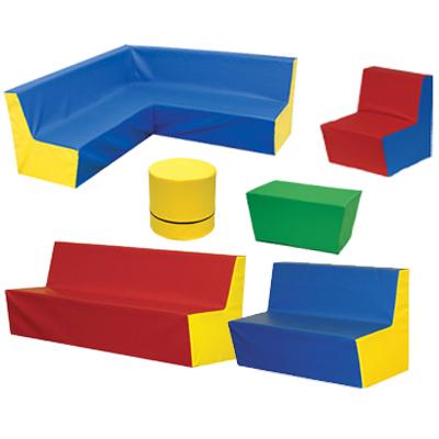 Dětská rohová sedačka jednobarevná