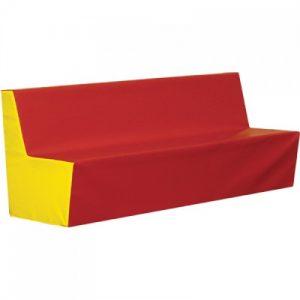 Jednoduchá sedačka 120 cm jednobarevná